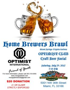 "Optimist Club - ""Homebrewers Brawl"" @ Tom's NFL 